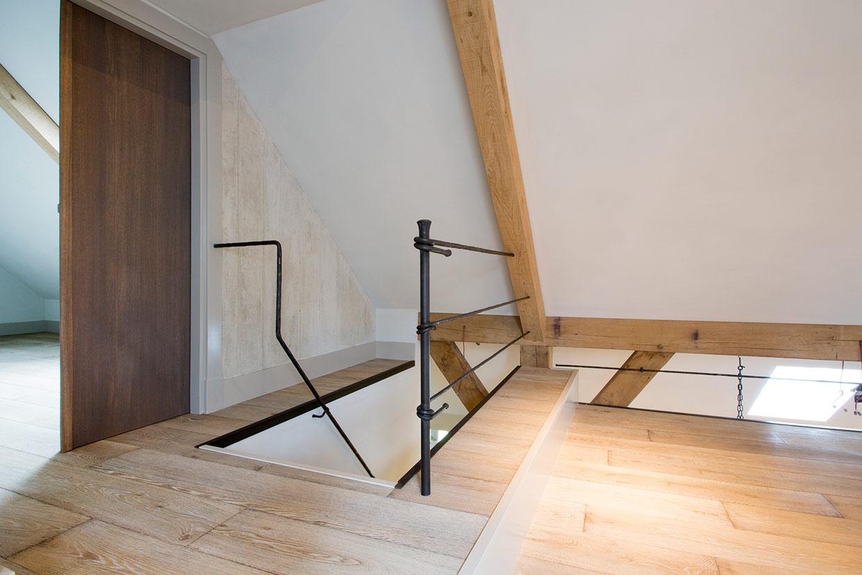 Eiken houten vloer met white wash in Blaricum